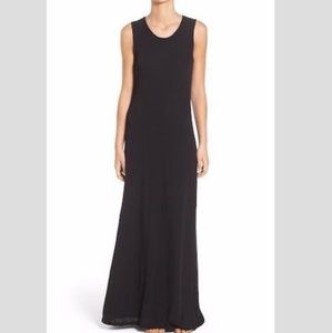 James Perse Cotton Flare Maxi Dress black